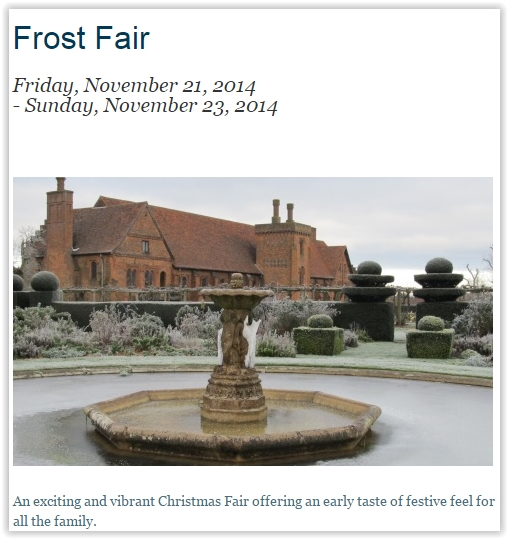 Hatfield House Christmas Frost Fair