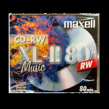 Maxell CDRW80 XLII for Music in a Jewel Case - OrtonsAudioVisual