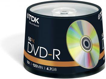 TDK DVD-R 4.7gb 50-Spindle - OrtonsAudioVisual