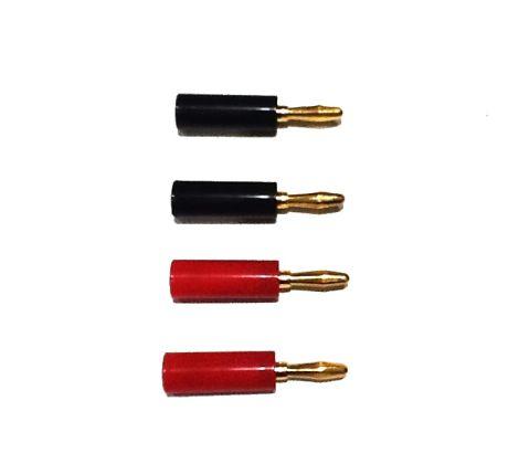 4-Pack Gold Speaker Banana Plugs - OrtonsAudioVisual