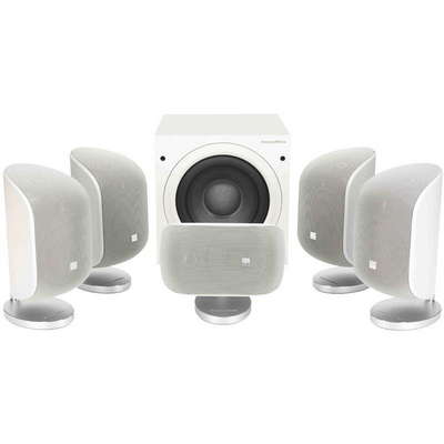 B&W MT50 5.1 Speaker Package - White | Ortons AudioVisual Online